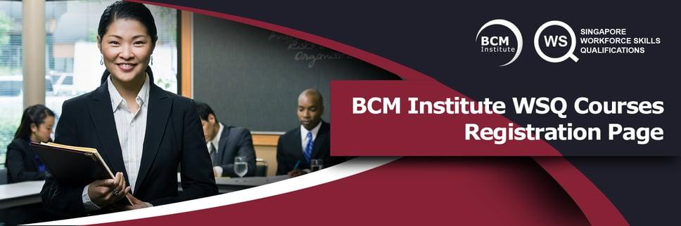 BCM WSQ Registration Form Banner